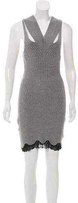 Alexander Wang Lace-Accented Wool Dress
