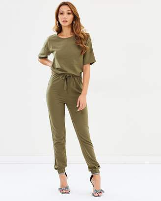 Missguided Slouch Drawstring Short Sleeve Jumpsuit