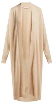 Roche Ryan Long Cashmere And Silk Cardigan - Womens - Cream