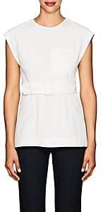 Derek Lam 10 Crosby Women's Crepe Belted Blouse-White