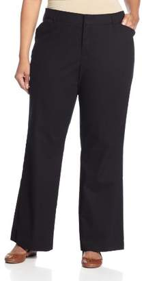 Dickies Women's Plus-Size Relaxed Straight Stretch Twill Pant
