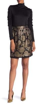 Nanette Lepore NANETTE Floral Patterned Jacquard Skirt
