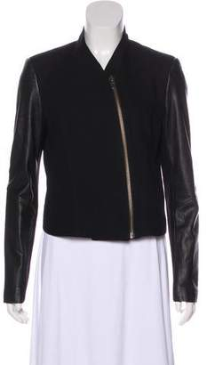 Helmut Lang Leather Accented Moto Jacket