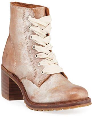 Frye Sabrina Metallic Suede Boots