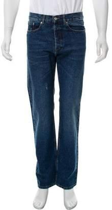 Dries Van Noten Distressed Slim-Fit Jeans w/ Tags