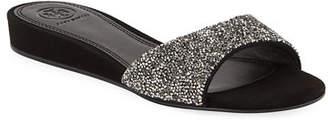 Tory Burch Elodie Glitter Wedge Sandals