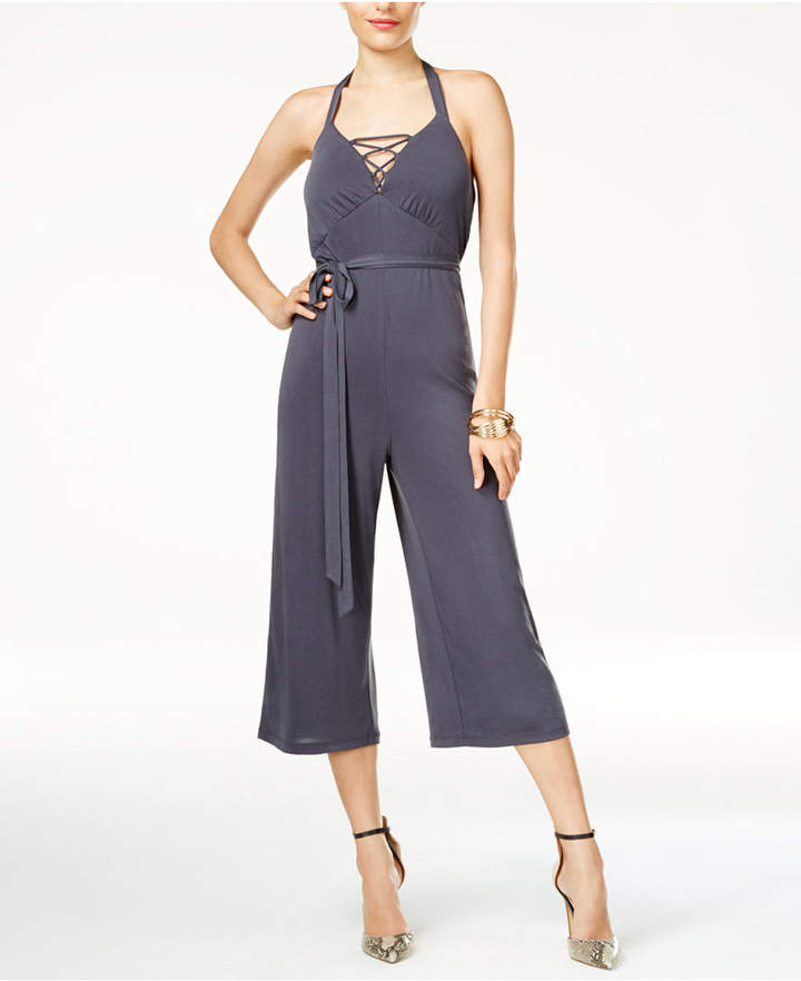 Guess Piper Laced Halter Jumpsuit