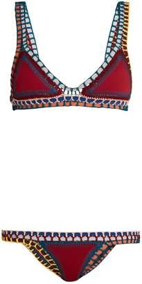 KIINI Soley crochet-trimmed triangle bikini $285 thestylecure.com
