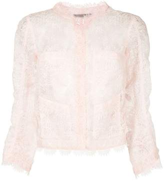 Ermanno Scervino sheer lace cropped blazer