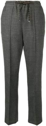 Fendi microcheck drawstring trousers