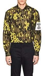 "Oamc Men's ""People For Peace"" Linen-Cotton Popover Shirt Size S"