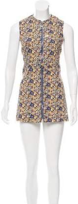 Louis Vuitton Floral Print Denim Dress