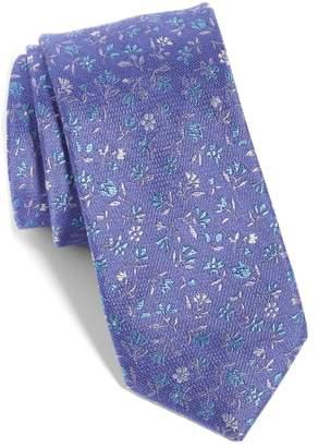 The Tie Bar Flower Fields Silk & Cotton Tie