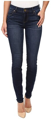 KUT from the Kloth Mia Toothpick Five-Pocket Skinny Jeans in Awareness w/ Medium Base Wash