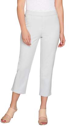 Halston H By H by Studio Stretch Pull-On Crop Pants