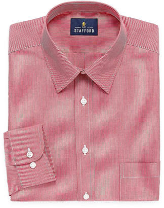 STAFFORD Stafford Travel Performance Super Shirt Long Sleeve Broadcloth Stripe Dress Shirt