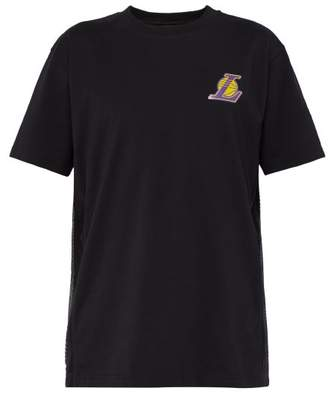 Marcelo Burlon County of Milan Lakers Cotton Jersey T Shirt - Mens - Black Multi