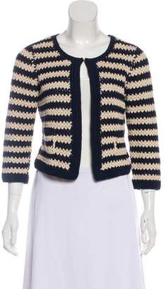 0039 Italy Striped Crochet Cardigan