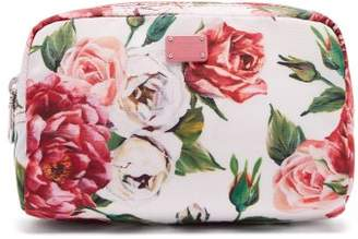 Dolce & Gabbana Floral Print Make Up Bag - Womens - Pink White