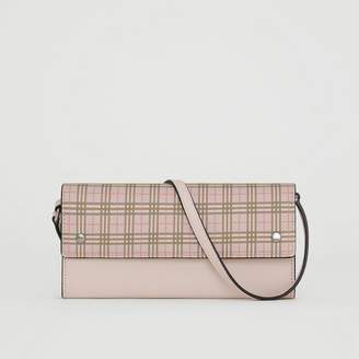 Burberry Small Scale Check Wallet with Detachable Strap