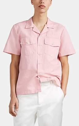 Sies Marjan Men's Teun Cotton-Silk Boxy Shirt - Rose