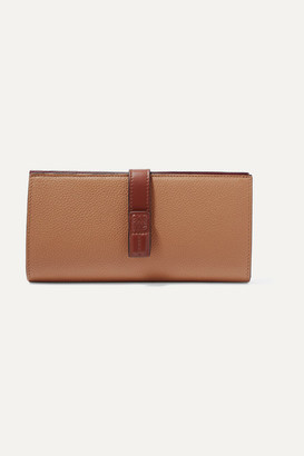 Loewe Textured-leather Wallet - Tan