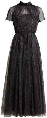 Emilia Wickstead Gabriel Glittered Tulle Gown - Womens - Black