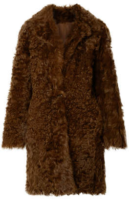 Vince Reversible Shearling Coat - Brown