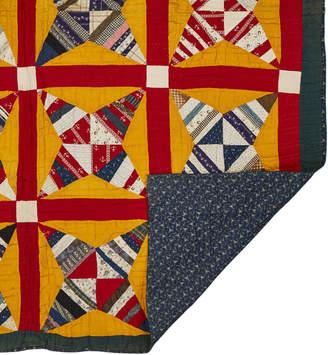 Rejuvenation Gorgeous Vintage Windmill Blade Quilt w/ 19th Century Fabrics