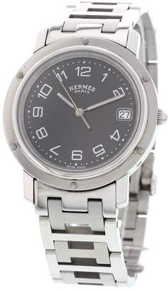 Hermes Clipper Silver Steel Watches