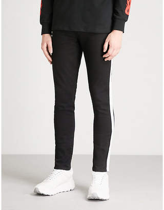 Criminal Damage Side-stripe slim-leg skinny jeans