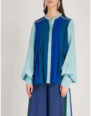 Peter Pilotto Contrast-panel silk shirt