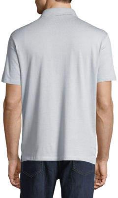 Robert Barakett Men's Clermont Striped Jersey Polo Shirt