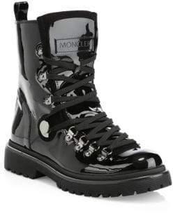 Moncler Patent Leather Combats Boots