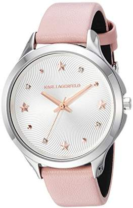 Karl Lagerfeld Women's Karoline Quartz Stainless Steel and Leather Casual Watch