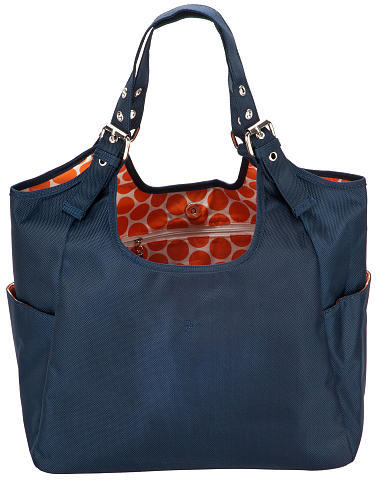 JP Lizzy Navy Mandarin Satchel Diaper Bag