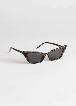 And other stories Slim Cat Eye Sunglasses