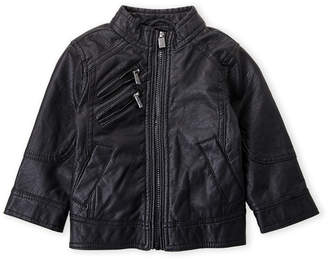 Urban Republic Toddler Boys) Perforated Faux Leather Jacket