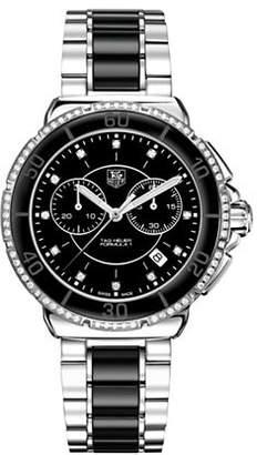 Tag Heuer Chronograph Formula 1 CAH1212.BA0862 Lady Diamond Ceramic and Steel Bracelet Watch
