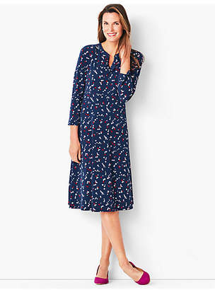 Talbots Knit Fit & Flare Dress - Dot