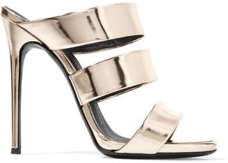 Giuseppe Zanotti - Mirrored-leather Sandals - Gold $695 thestylecure.com