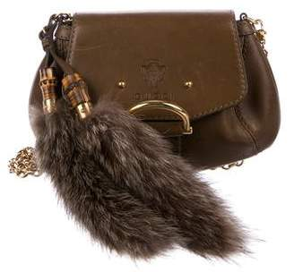 Gucci Fur-Trimmed Small Smilla Crossbody Bag