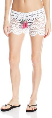Pilyq Women's Water Lily Lexi Short Cover Up, White