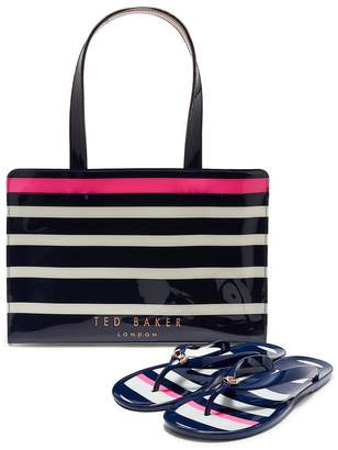 9f94c94d6 Ted Baker Ned Stripe Icon Flip Flop Set - Navy