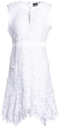 Just Cavalli Satin-Trimmed Macramé Mini Dress