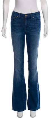 Tory Burch Flared Mid-Rise Jeans