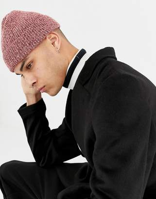2a3d003e830 Asos Design DESIGN fisherman beanie in pink twist