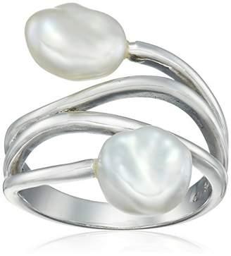 Bella Pearl Fancy Silver Pearl Keshi Ring