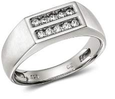 Bloomingdale's Men's Diamond Double Row Ring in 14K White Gold, 0.25 ct. t.w. - 100% Exclusive