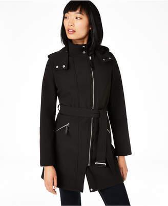 Calvin Klein Asymmetrical Water Resistant Hooded Raincoat